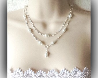Vintage Inspired Bridal Pearl Jewellery Set