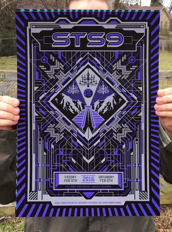 STS9 Fillmore Denver Colorado Winter Tour 2016 Poster Print