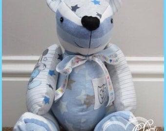 Keepsake memory birthday bear/rabbit made from special items of clothing