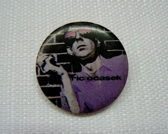 Vintage Early 80s Ric Ocasek (The Cars) / Beatitude Album (1982) Promotional Pin / Button / Badge