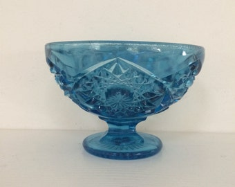 Blue Glass Candy Dish