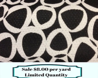FABRIC SALE!!! Mod Geometric Black and White - Black and White Upholstery Fabric By The Yard