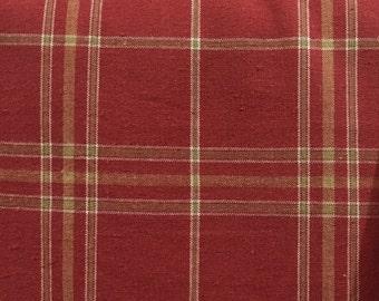 Dark Blush Plaid - Upholstery Fabric by the Yard