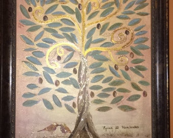 Guest Book Wedding Tree, Hand Painted