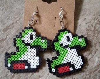 Perler Baby Yoshi Inspired Earrings// Yoshi//Earrings//Mario//
