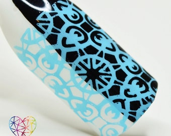 BLP28 - B. a BLue Sky (Stamping Nail Polish) - for stamping plates (B. Loves Plates)