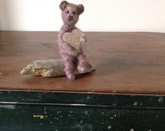 Needle felt teddy bear