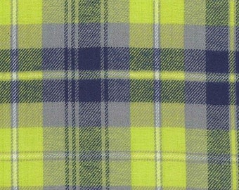 BRIGHT GREEN PLAID adult fitted cloth diaper