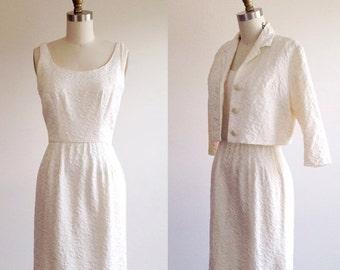 25% OFF SALE Short wedding dress- Simple wedding dress- Summer wedding dress- Ivory dress- Casual wedding dress- 1950s bridal- Courthouse we