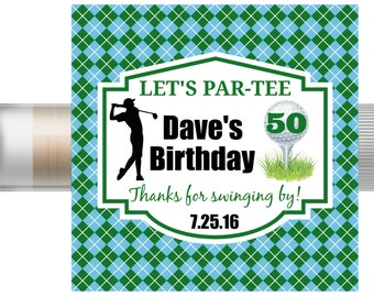 5Pc Golf Lip Balm/Golf Party/Golf Favors/Golf Chapstick/Golf Team/Golf Award/Golf Birthday/Golf Tournament/Invitation/Card/Retirement Gift