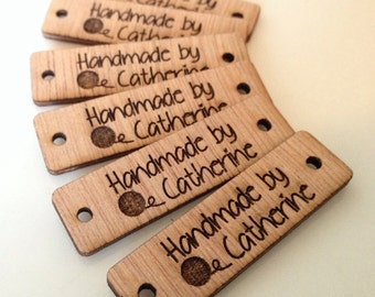 Product tag, design, tag, wood custom tag, personalized, wood tag, engraved tag, button, knitting button, craft button, business tag,