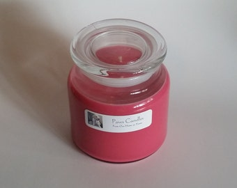 16oz Apothecary Holly Berry candle with flat lid