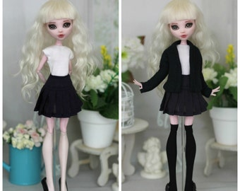 School uniform for Monster High / EAH / Blythe / Azone pure neemo L/M/S/XS / Momoko / Obitsu and same doll 1/6 size
