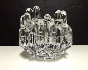 Kosta Swedish Glass Polar Canle Holder/ Votive design by Goran Warff