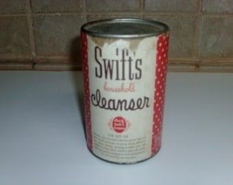 Vintage Swift's Cleaner can of cleaner