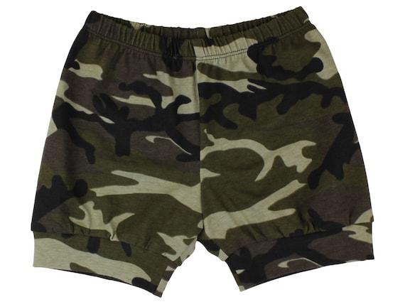 Camo Baby Shorts Camouflage Toddler Boy Shorts Army Camo Toddler Boy Shorts Cuff Shorts Comfortable Baby Clothing Shorts Aztec Shorts