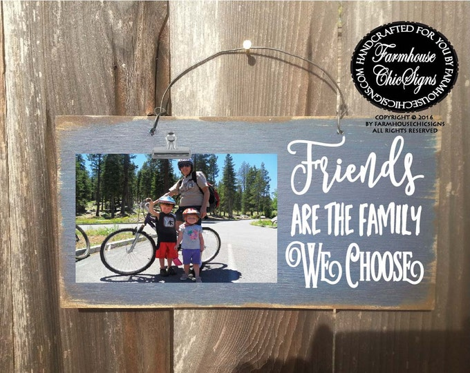 best friend, best friends gift, gift for friends, friend gift, friend, friendship, friend picture frame, friends are family we choose, 207