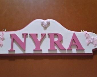 Custom made Room Name Plaques
