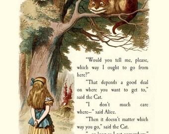 "Alice in Wonderland "" The Cheshire Cat "" Print"