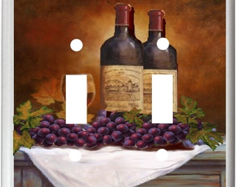 WINE AND GRAPE Wine Bottle Light Switch Cover Plates k 14 Kitchen Home Decor  Free Shipping in U.S.!!!