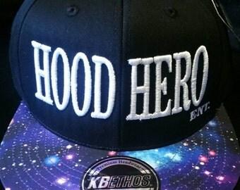 Black Galaxy Hood Hero Ent. Snapback
