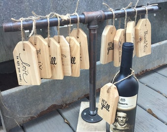 Wooden hand stamped gift tags