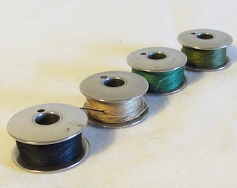 4 Metal Sewing Machine Bobbins, Sewing Supplies, Sewing Machine Accessories, Single Hole Metal Bobbins