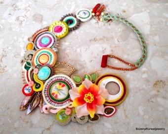 large soutache necklace