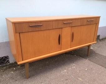 SOLD: 1960s Oak Veneered Sideboard/Credenza by Lebus. Vintage/Retro/Mid Century.