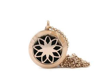 Petite Rosegold Diffuser Necklace, Stainless Steel, Diffuser Necklace, Free Shipping