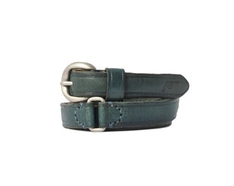 Narrow Leather Belt RIB