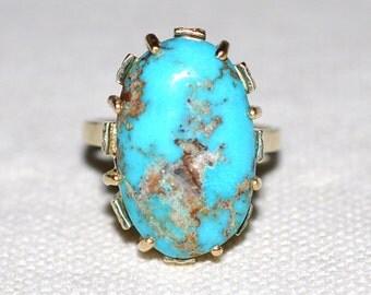 Vintage Turquoise Dress Ring