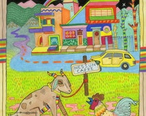 No Goats Illustration Print