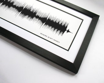 """Where is My Mind - Music Wall Art Song Poster Print - """"Where is my mind, Way out in the water, See it swimmin'"""""""