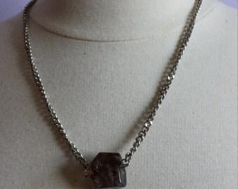Smoky Quartz + Chain Necklace