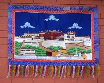 Potala Palace Embroidered Wall Hanging TIBET PALACE