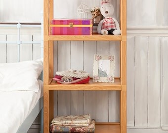 Tool Free Assembly Westminster 4 Tier Eco Friendly Storage Shelf and Bookcase, by Way Basics