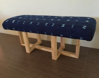 Custom Wood Base Bench//Made to Order