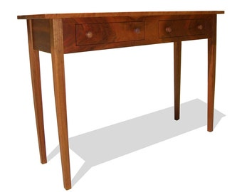 Shaker Style Solid Cherry Foyer / Hall Table with 2 Drawers