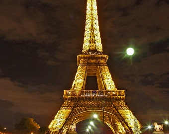 Paris Eiffel Tower Moonlight (12x14)