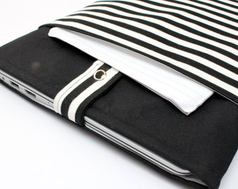Stella Striped Laptop Sleeve With Zipper Pouch - Free Shipping to Australia