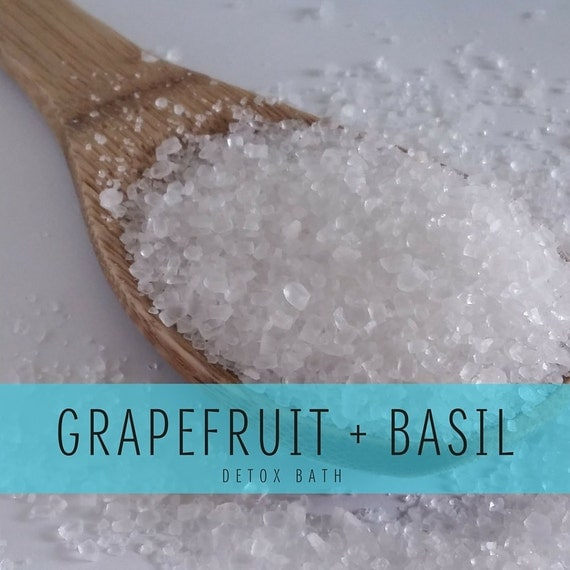Grapefruit Basil Detox Bath, Detox Bath Salts