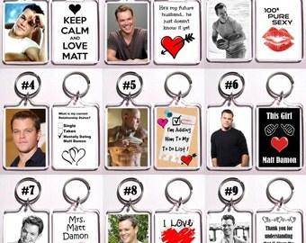 Matt Damon Keychain Key Ring - Many Designs To Choose From