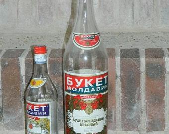 empty bottle. 2 empty bottles (3 L and 1 L).  bouquet of Moldova.