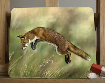 Fox Placemat/Coaster By Artist Grace Scott