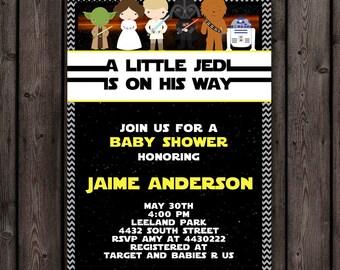FAST ship star wars baby shower invitation customized