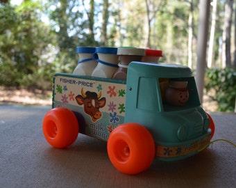 1965 Fisher Price Milk Wagon