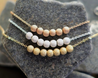 Stardust Necklace + Beaded Necklace + Rose Gold Necklace + Gold Bead Necklace + Silver Bead Necklace + Everday Necklace + Bridesmaid Gift