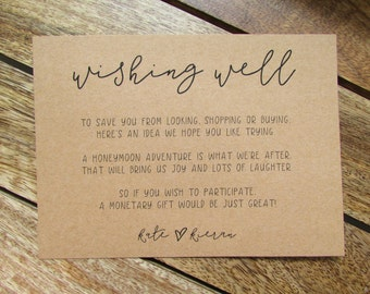 Wishing Well Cards | Rustic Wedding Wishing Well Cards | Lily Collection