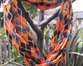 Plaid Bats Infinity Scarf made from Very Soft Performance Knit